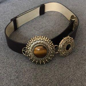 Chicos brown adjustable belt
